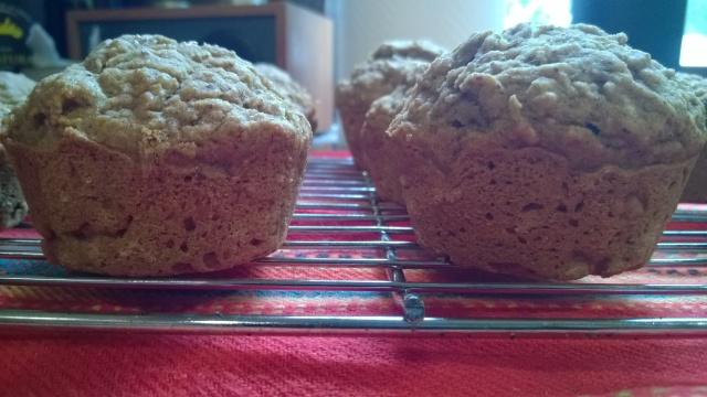 Two zucchini muffins