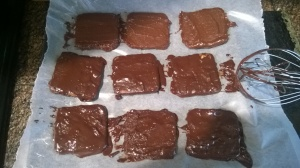 Fresh chocolate grahams