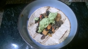 Sweet potato and black bean taco