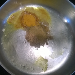 Spices in ghee